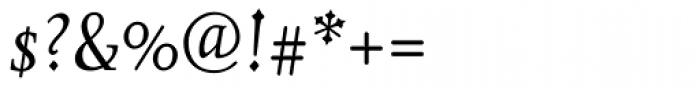 Juliana Text Italic Font OTHER CHARS