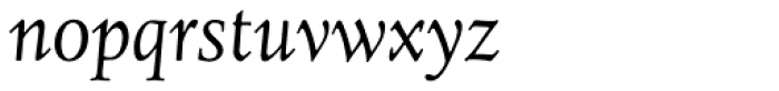 Juliana Text Std Italic Font LOWERCASE