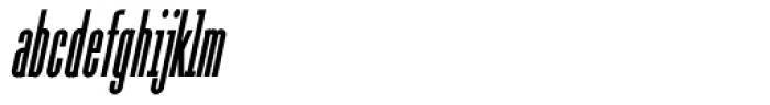 Julienne Slim Bold Italic Font LOWERCASE