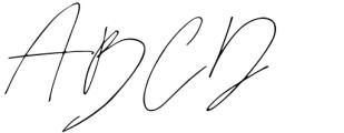 Juliette Signature Regular Font UPPERCASE