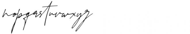 Juliette Signature Regular Font LOWERCASE
