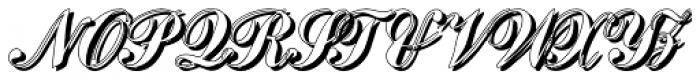 Julisa Script Shadow Font UPPERCASE