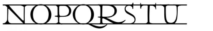 Julius Klinger Bars Font UPPERCASE