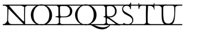 Julius Klinger Bars Font LOWERCASE