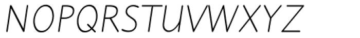 Julius Primary Light Italic Font UPPERCASE