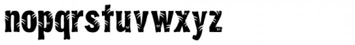 Jungle Bones Normal Font LOWERCASE