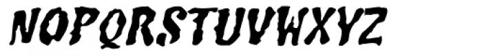 Junglemania Oblique Font LOWERCASE