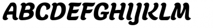 Juno Black Italic Font UPPERCASE