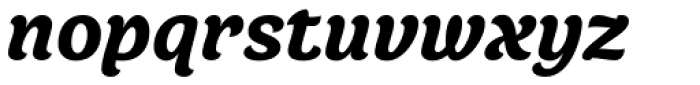 Juno Black Italic Font LOWERCASE