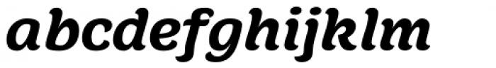 Juno Semi Expanded Black Italic Font LOWERCASE