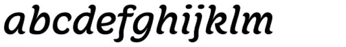 Juno Semi Expanded Medium Italic Font LOWERCASE