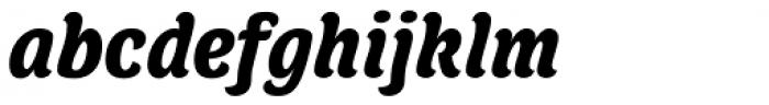 Juno Semicondensed Black Italic Font LOWERCASE