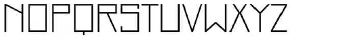 Just Square Cyrillic Std Thin Font UPPERCASE