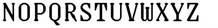 Justice Regular Font UPPERCASE