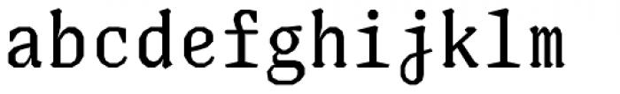 Justice Regular Font LOWERCASE