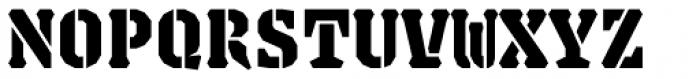 Justice Stencil Black Font UPPERCASE