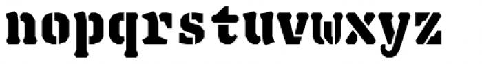 Justice Stencil Black Font LOWERCASE