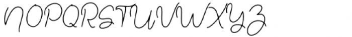 Justin Hailey Monoline Font UPPERCASE