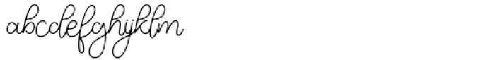 Justin Hailey Monoline Font LOWERCASE