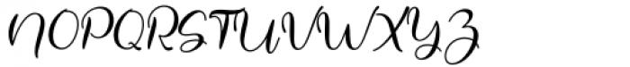 Justin Hailey Regular Font UPPERCASE