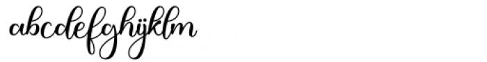Justin Hailey Regular Font LOWERCASE