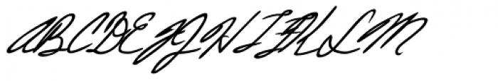 Justine Handwriting Font UPPERCASE