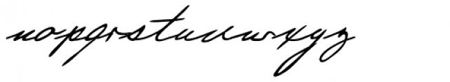 Justine Handwriting Font LOWERCASE