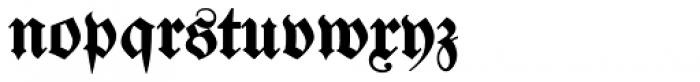 Justus Fraktur EF Bold Font LOWERCASE