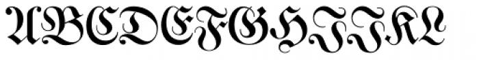 Justus Fraktur EF Regular Font UPPERCASE