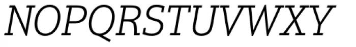 Justus Pro Light Italic Font UPPERCASE