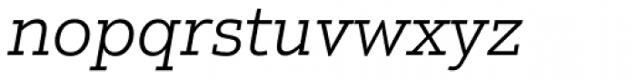 Justus Pro Light Italic Font LOWERCASE