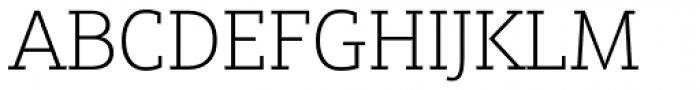 Justus Pro Thin Font UPPERCASE