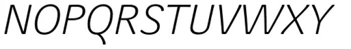 Juvenis Light Italic Font UPPERCASE