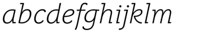 Juvenis Light Italic Font LOWERCASE