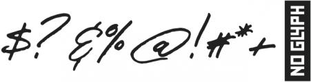 JV Signature Alt otf (400) Font OTHER CHARS