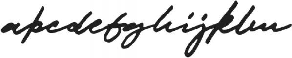 JV Signature Alt otf (400) Font LOWERCASE