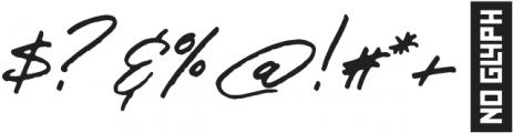 JV Signature otf (400) Font OTHER CHARS