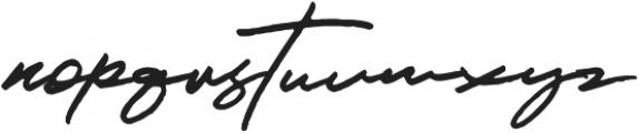 JV Signature otf (400) Font LOWERCASE
