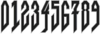 JVNE Blackie College otf (900) Font OTHER CHARS