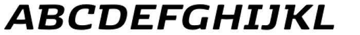 K�benhavn Extra Bold Italic Font UPPERCASE