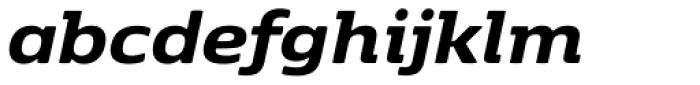 K�benhavn Extra Bold Italic Font LOWERCASE