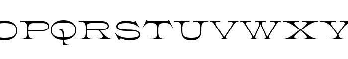 K22 Athenian Wide Font UPPERCASE
