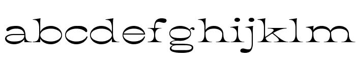 K22 Athenian Wide Font LOWERCASE