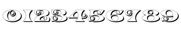K22 Spiral Swash Shadow Font OTHER CHARS