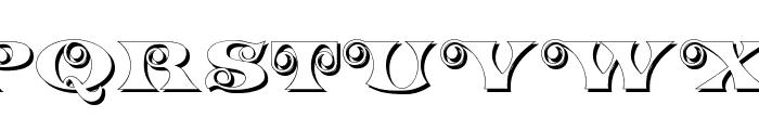 K22 Spiral Swash Shadow Font UPPERCASE