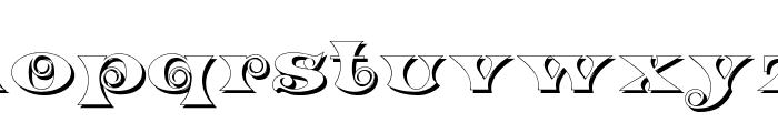 K22 Spiral Swash Shadow Font LOWERCASE