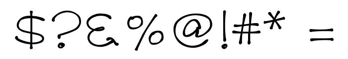 K26PrimrosePeach Font OTHER CHARS