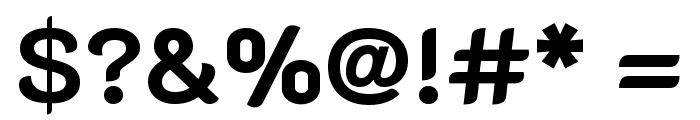 K2D Bold Font OTHER CHARS