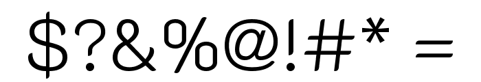 K2D ExtraLight Font OTHER CHARS