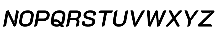 K2D SemiBold Italic Font UPPERCASE